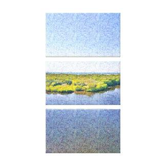 Florida-LandschaftsLeinwanddruck: Fluss, Ozean, Leinwanddruck