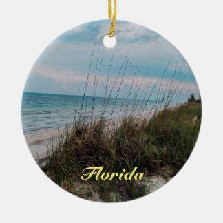 Florida-Ozean-Küsten-Szene Rundes Keramik Ornament