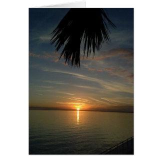 Florida-Sonnenuntergang Grußkarte