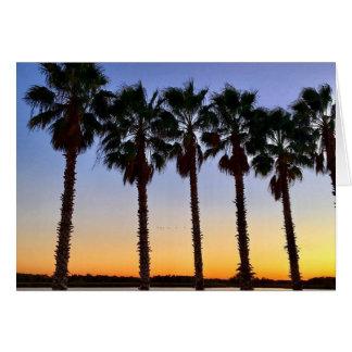 Florida-Sonnenuntergang notecard Karte