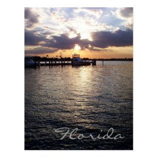 Florida-Sonnenuntergang-Postkarte Postkarte