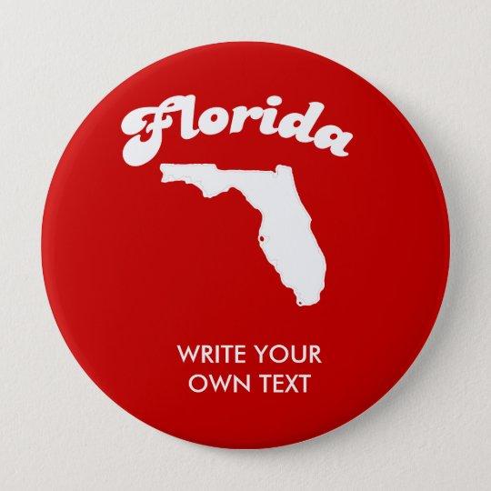 FLORIDA-STAATS-MOTTO-T - SHIRT T - Shirt Runder Button 10,2 Cm