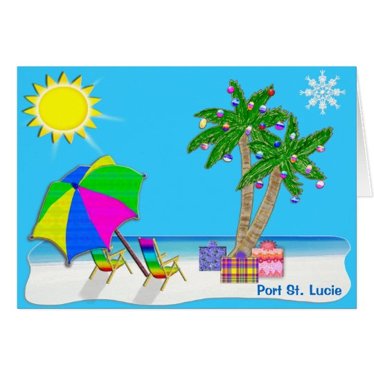 Florida-Strand-Weihnachtskarten mit Ihrer STADT Grußkarte
