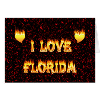 Floridafeuer und -flammen der Liebe I Karte