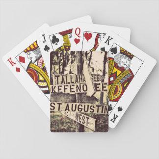 FloridarichtungsWegweiser Spielkarten