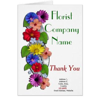 Floristen-Geschäfts-Thema-Sammlung Grußkarte