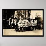 Floss in der Werktags-Parade New York City 1909 Plakatdrucke