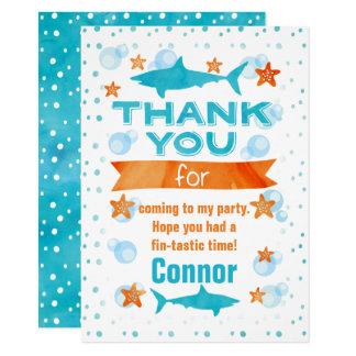 Flosse-tastic Haifisch-Geburtstag danken Ihnen zu Karte