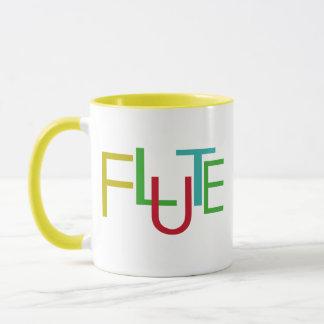 Flöten-Buchstaben Tasse