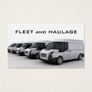 Flotte der Packwagen-Visitenkarte Visitenkarte