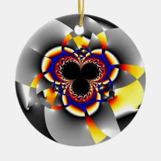 Flower - Blume Rundes Keramik Ornament