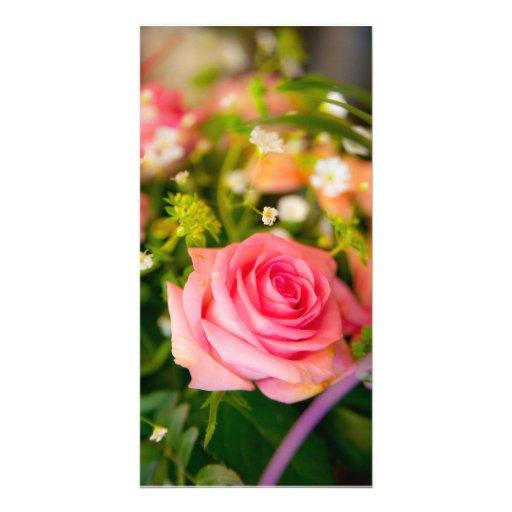 flower photocarte personnalisée