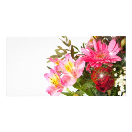 flower cartes avec photo