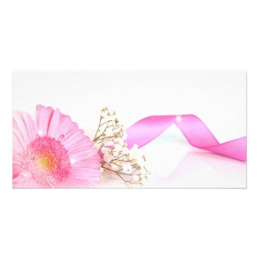 flower cartes de vœux avec photo