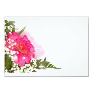 flower carton d'invitation  12,7 cm x 17,78 cm
