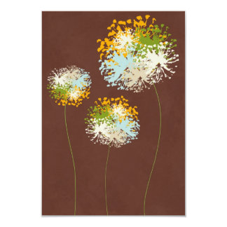 Flower Carton D'invitation 8,89 Cm X 12,70 Cm