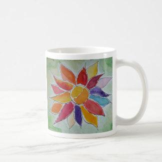 Flower contents mug blanc
