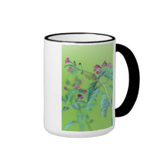 Flower en rose vif mug ringer