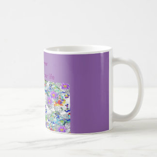 flower et amour mug blanc