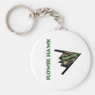 Flower Hawk Porte-clé Rond