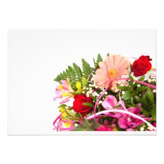 flower invitation personnalisée