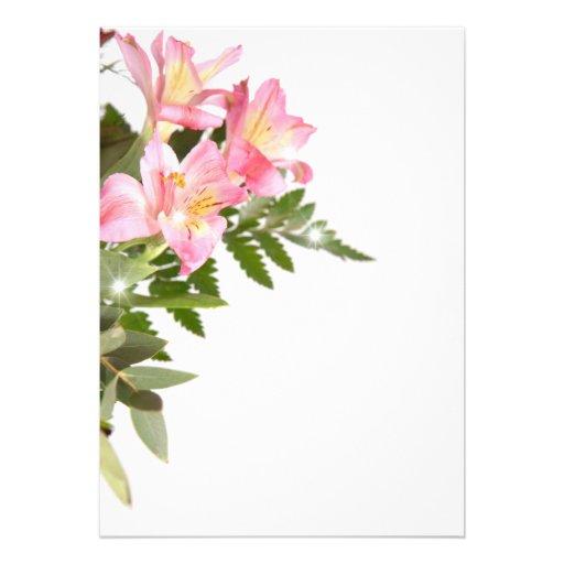 flower invitations personnalisées