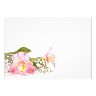 flower cartons d'invitation