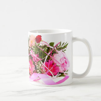 flower mug blanc