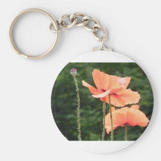 Flower oranges porte-clefs