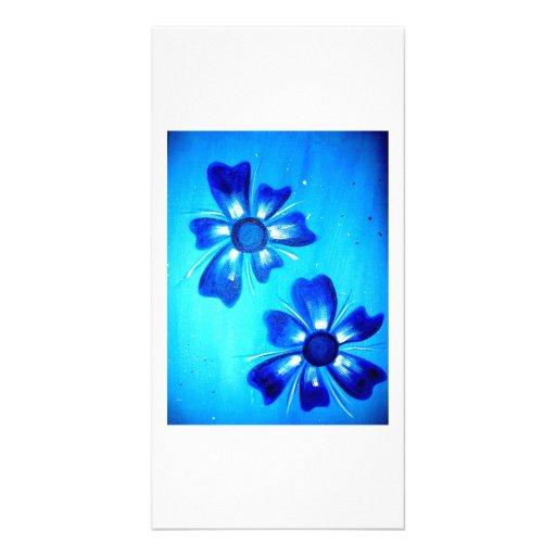 Flower Power2 Cartes De Vœux Avec Photo