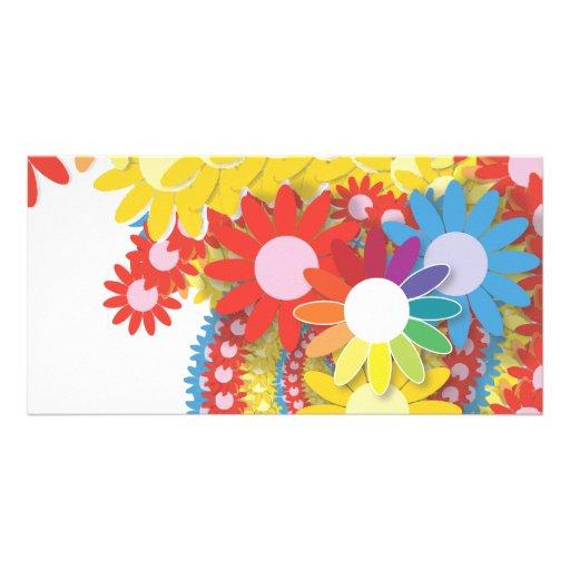 Flower power 2 photocartes personnalisées