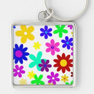 FLOWER POWER ! (a choisi une couleur d'arrière - Porte-clef