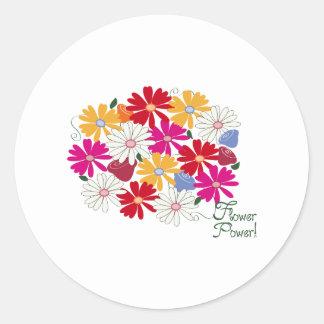 Flower power ! autocollant rond