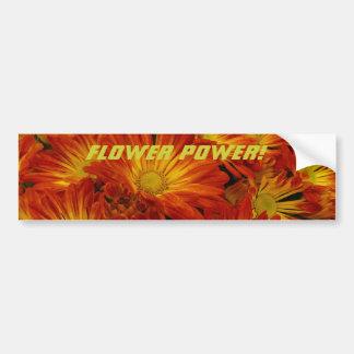 Flower power ! autocollant de voiture