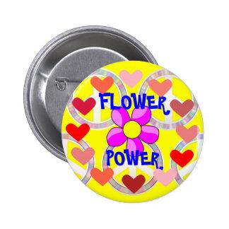 Flower power badge rond 5 cm