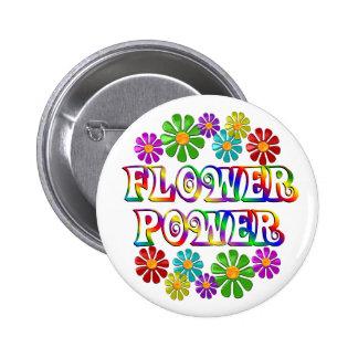 Flower power coloré badge rond 5 cm