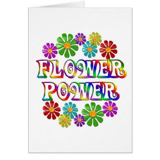 Flower power coloré carte de vœux
