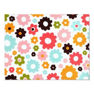 flower power (kkincade12) carton d'invitation 10,79 cm x 13,97 cm