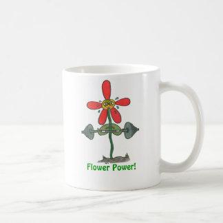 Flower power ! mug blanc