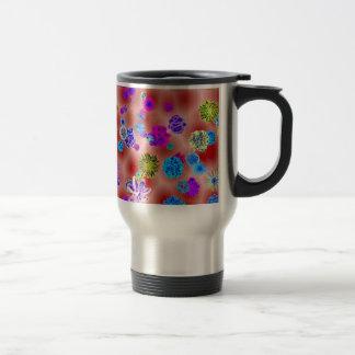 Flower power mug de voyage en acier inoxydable