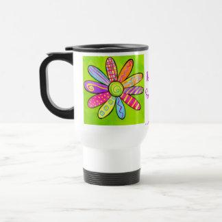 Flower power ! mug de voyage en acier inoxydable