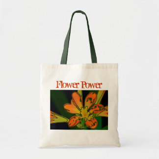 Flower power orange sac en toile budget