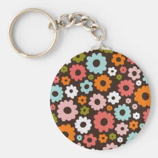 Flower power ! ! ! porte-clé rond