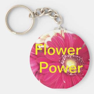 Flower power ! porte-clé rond