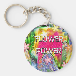 Flower power porte-clé