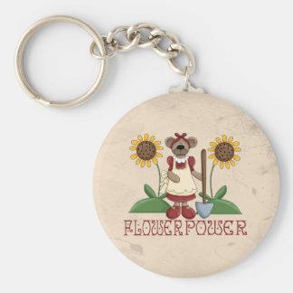 Flower power porte-clefs