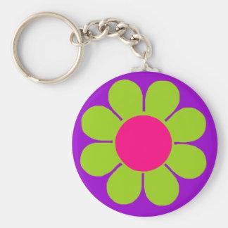 Flower power porte-clés