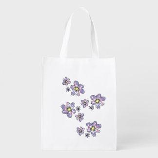 Flower power sacs d'épicerie réutilisables