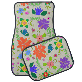 Flower power tapis de voiture