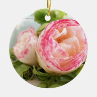 flower rundes keramik ornament
